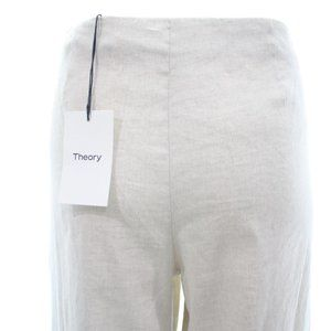 THEORY 'SIMONNE' LINEN BLEND WIDE LEG PANTS SIZE 6